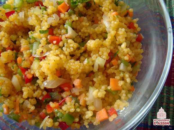 Salada de Cuscuz com Mandioca